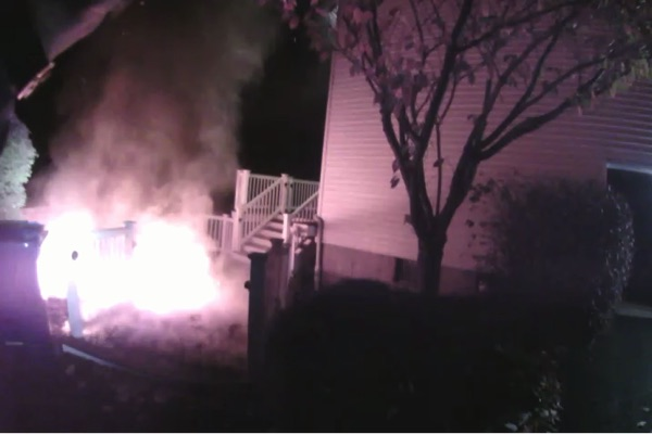 Ocean Township Police Help Evacuate Family From House Fire