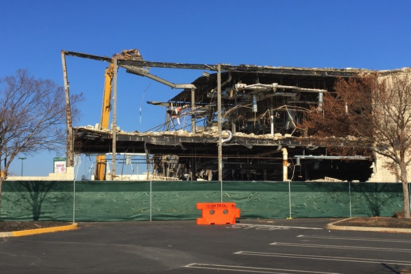 Demolition Of Ocean Township Value City Begins