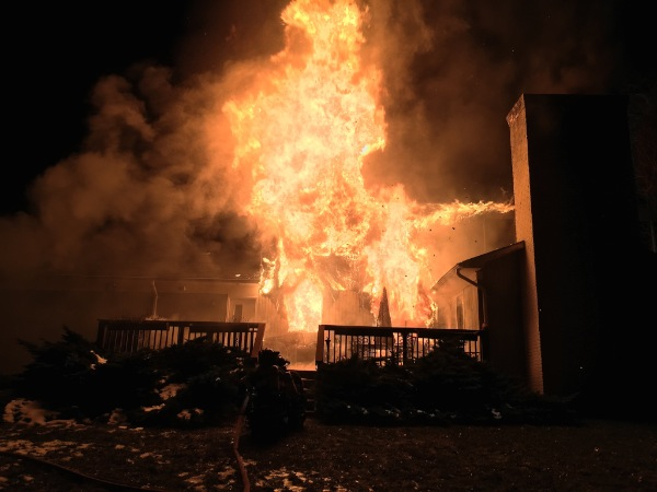 Ocean Township Fire Crews Battle Valentine's Day Blaze, Homeowner Arrested