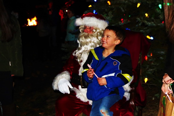 Santa Visits During Ocean Township Tree Lighting