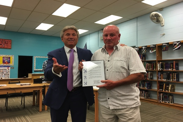 Heroic Oceanport Resident Member Honored