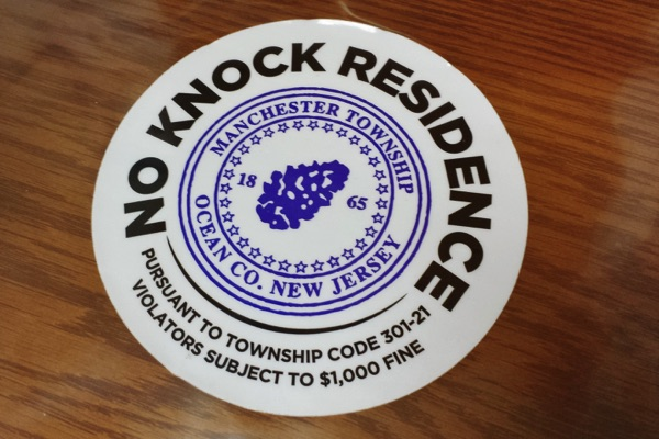 Oceanport To Consider No Knock Ordinance