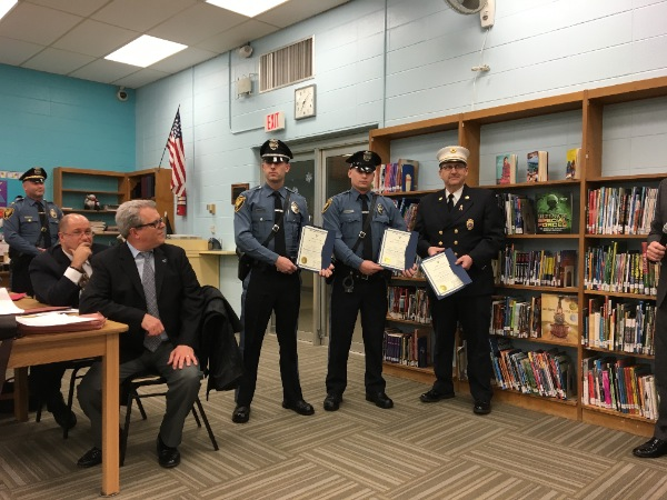 Oceanport First Responders Honored For Saving Man's Life During Blizzard