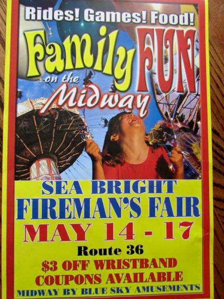 Sea Bright Fireman's Fair Begins May 14