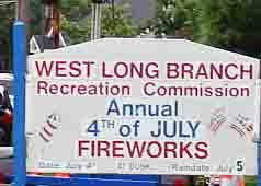 West Long Branch Fireworks, Summer Concert Dates Set