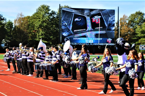 Monmouth U Football Shows Off New Scoreboard In Latest Win