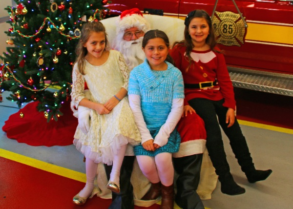 Santa Claus Has Busy Day In West Long Branch