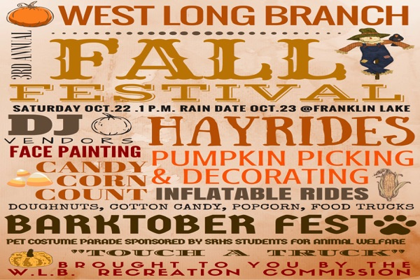 West Long Branch Fall Festival Returns Oct. 22