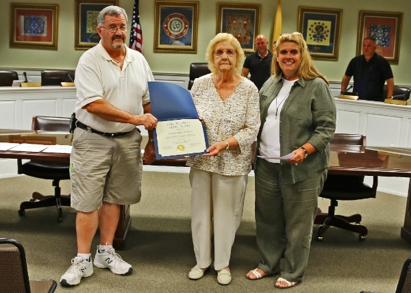 Fire ladies Auxiliary Eleanor Hagerman Recognized for 50 years of Community Service