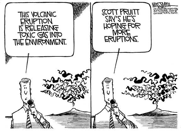 Editorial Cartoon: Eruption