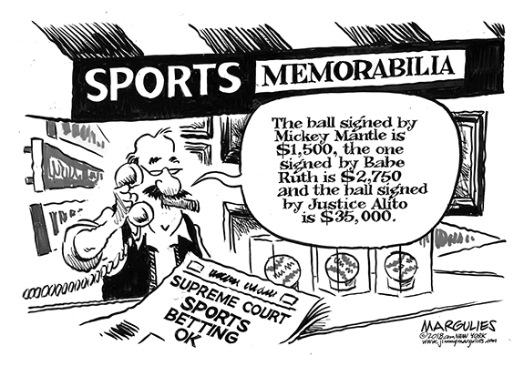 Editorial Cartoon: Betting