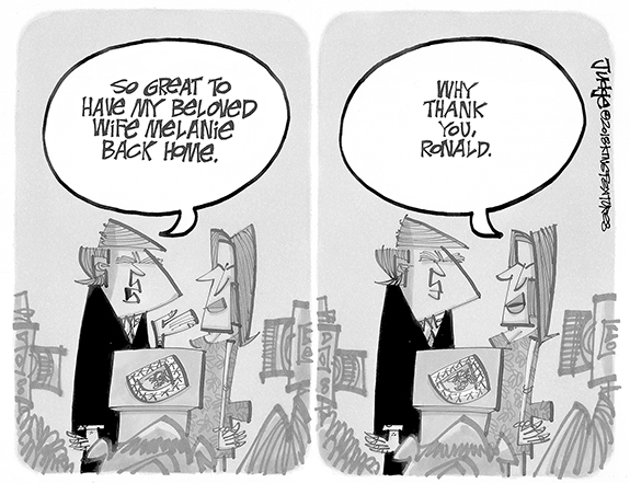 Editorial Cartoon: Homecoming