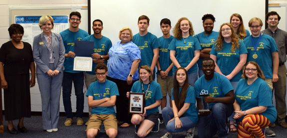 BOTS HONORED BY SCHOOL BOARD