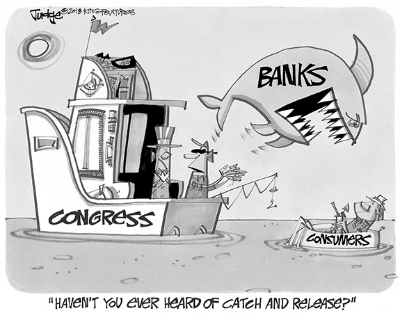 Editorial Cartoon: Banks