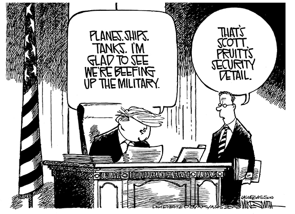Editorial Cartoon: Pruitt