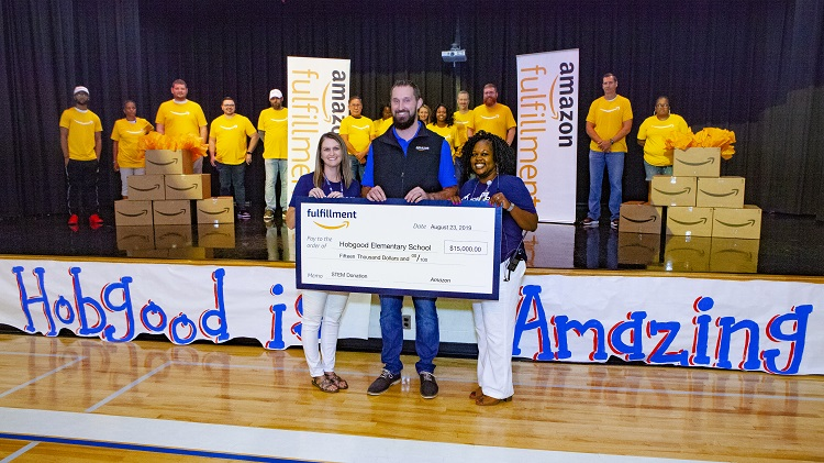 Amazon Kicks Off School Year for Hobgood Elementary with $15,000