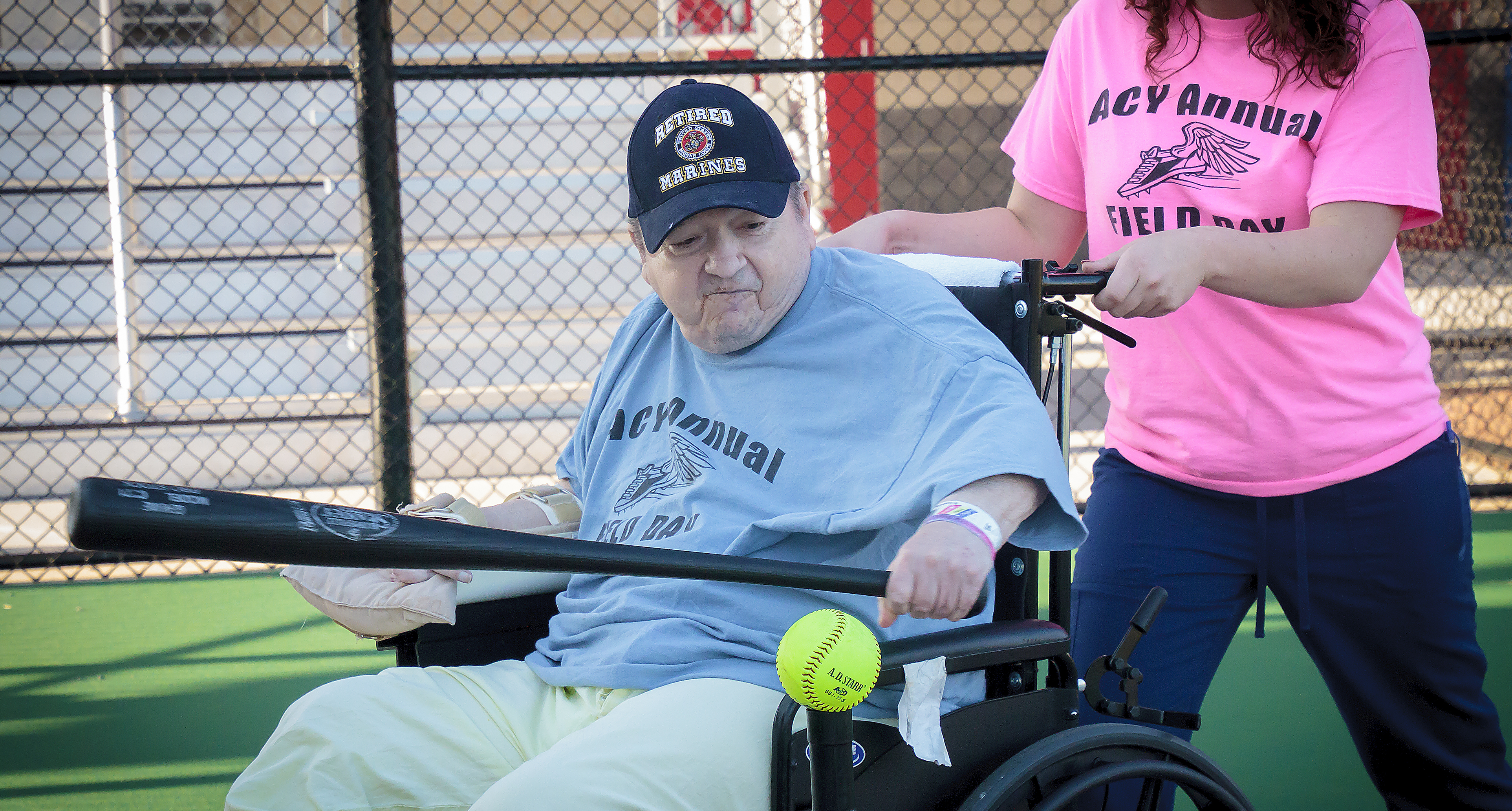 Disabled Veterans in Murfreesboro play ball at the new Miracle Field