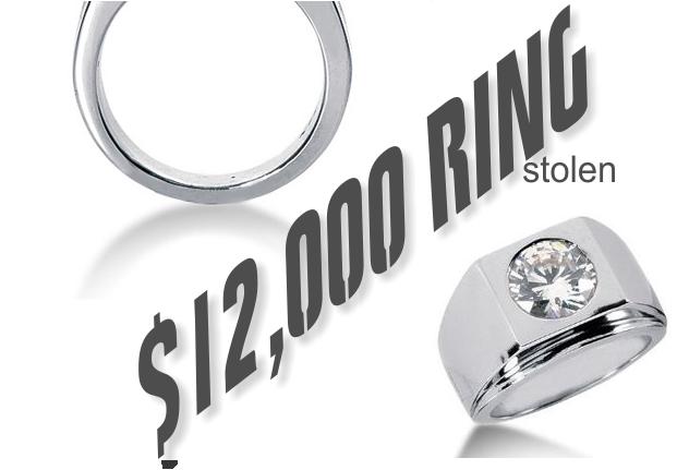 $12,000 Men's Diamond Ring Stolen in Murfreesboro