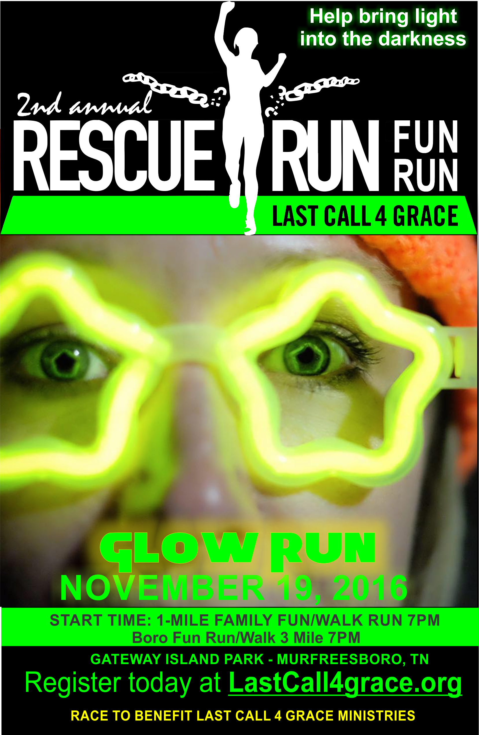 The annual Rescue Run is THIS SATURDAY NIGHT