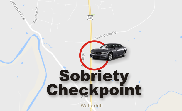 TONIGHT: 231 North Sobriety Checkpoint Next Friday in Walter Hill