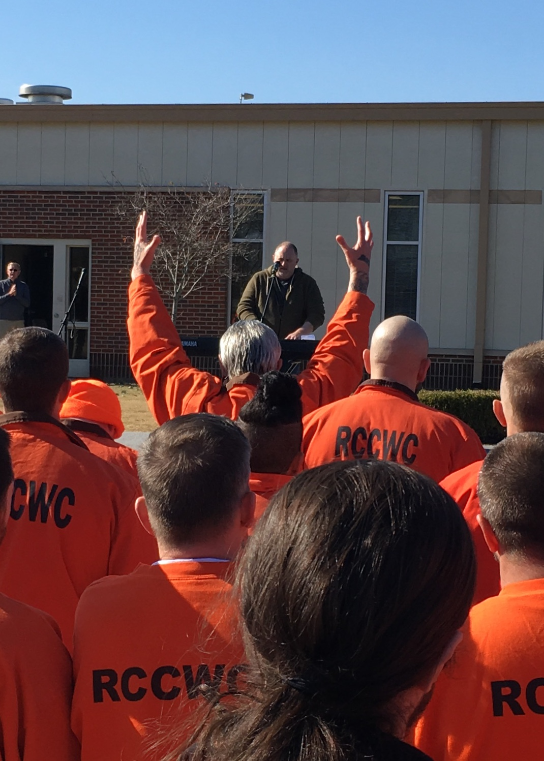 Rutherford County Correctional Work Center (RCCWC) recently partnered with New Vision Baptist Church of Murfreesboro to provide inmates with an inspirational event featuring local and national speakers and Christian artists.