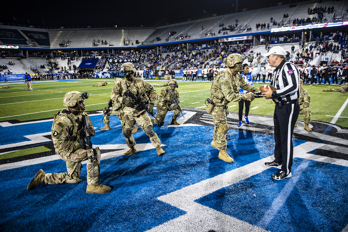 Veterans and currently active military will once again have their day, MTSU style, during the 38th annual Salute to Veterans and Armed Forces game activities.