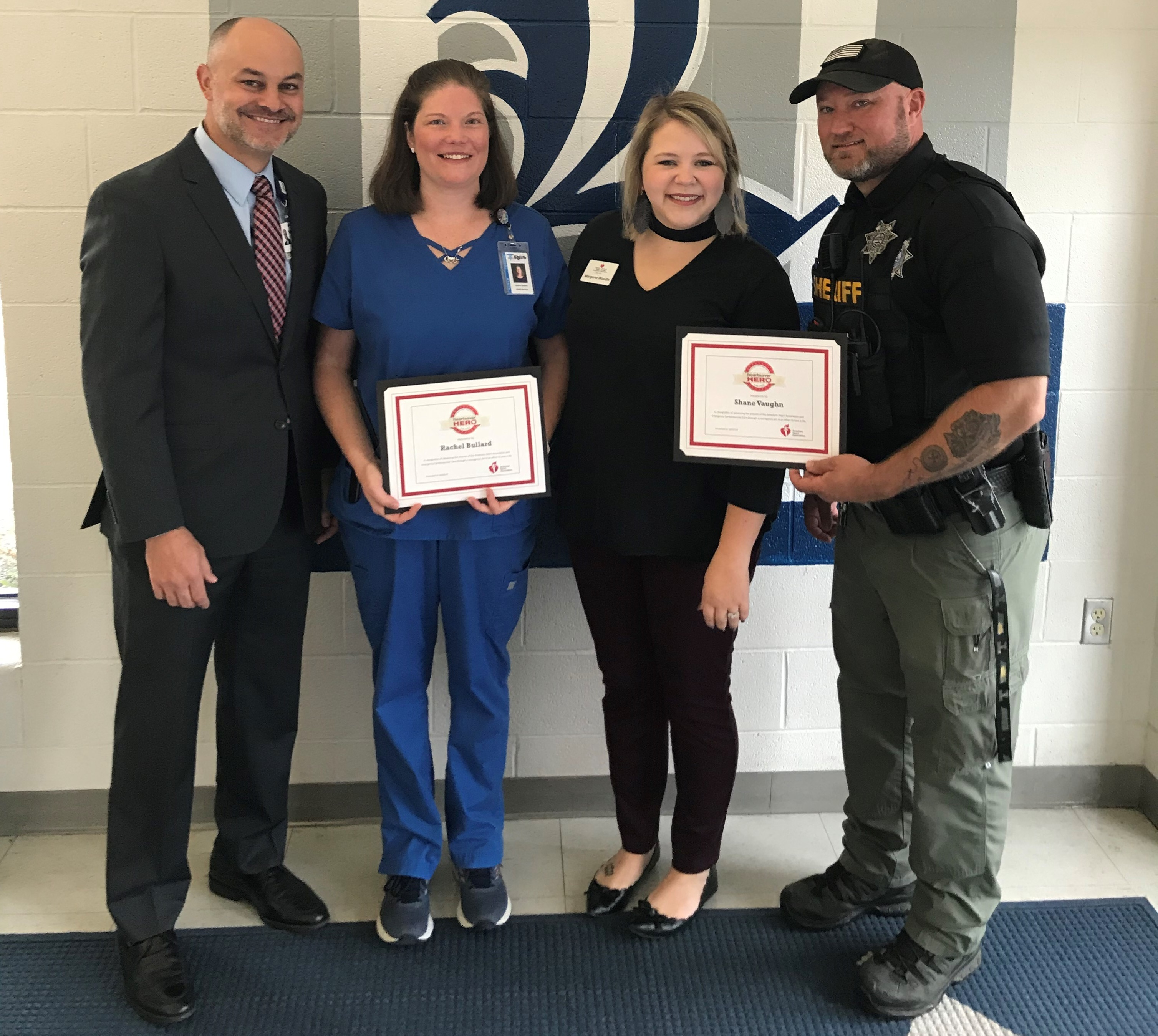 The American Heart Association, along with TriStar StoneCrest Medical Center, was honored to present the Heartsaver Hero Awards to Nurse Rachel Bullard and Officer Shane Vaughn...