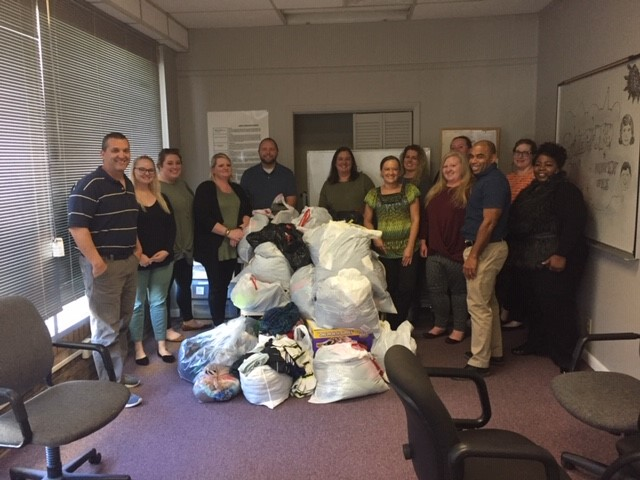 Rutherford County Probation & Recovery Services got a welcomed surprise this week when Lighthouse Christian School of Antioch delivered a whopping 17 bags of clothes to their office!