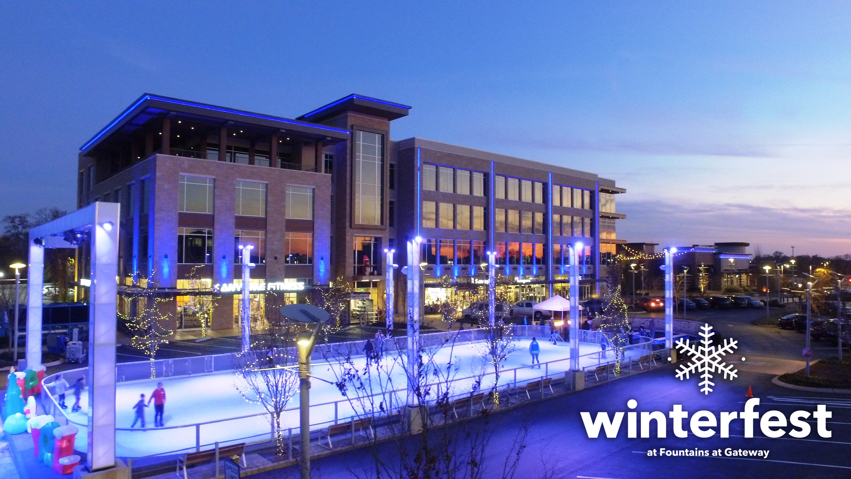 Winterfest at Fountains at Gateway  Outdoor Ice Rink Returns for the Holiday Season