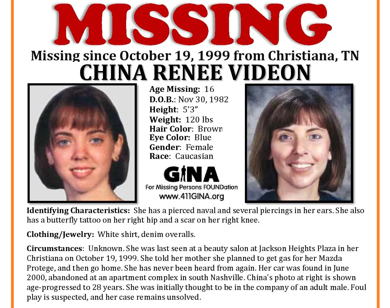 Riverdale Student China Videon Still Missing after 20 Years