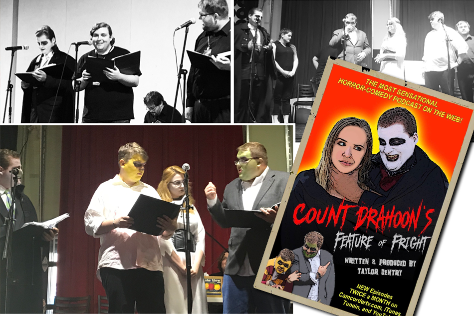 Count Drahoon's Feature of Fright returns to Murfreesboro, TN; this time to Center for the Arts on Tuesday, December 17th at 7pm for another evening of horror themed radio plays.