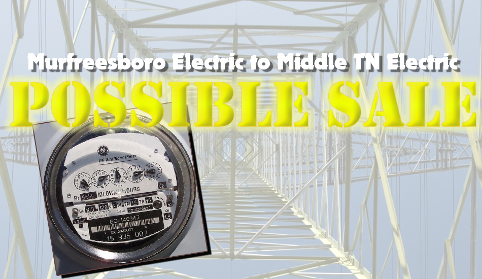 The Murfreesboro City Council will hold a special meeting Dec. 5th to hear a presentation on the potential sale of the City's Electric Department to Middle Tennessee Electric Membership Corporation. As with other council related meetings, it will be open to the public. The Council will meet in the Council Chambers of the City Hall.