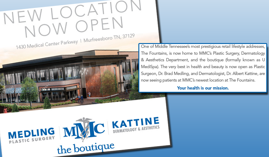 Murfreesboro Medical Clinic Announces New Location for Plastic Surgery, Dermatology and Aesthetics Departments