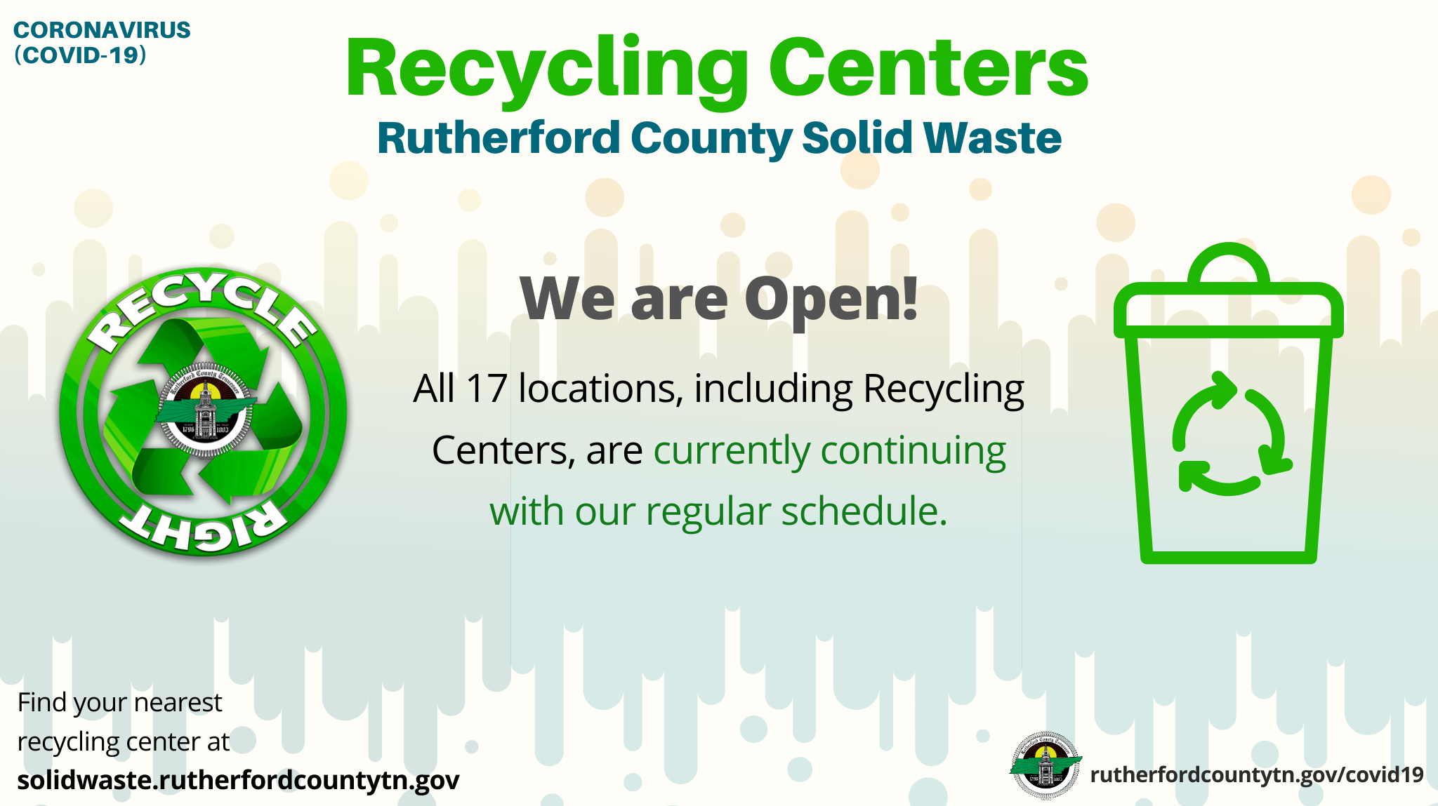 Rutherford County Solid Waste Limits Bulk Items and No Longer Accepts Building Materials Until Further Notice