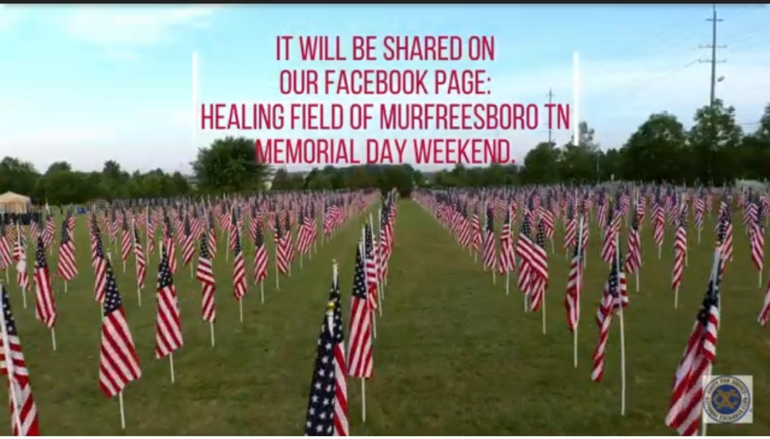 The annual Noon Exchange Club will hold a virtual Healing Fields Flags of Remembrance event this year due to the COVID-19 Pandemic...