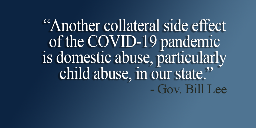 Gov. Bill Lee Urges Citizens to Report Suspected Child Abuse and Neglect During COVID-19 Crisis