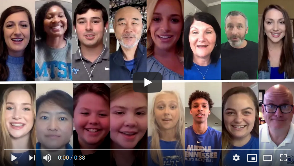 MTSU recreates stay-at-home version of 'I Am True Blue' video amid COVID-19