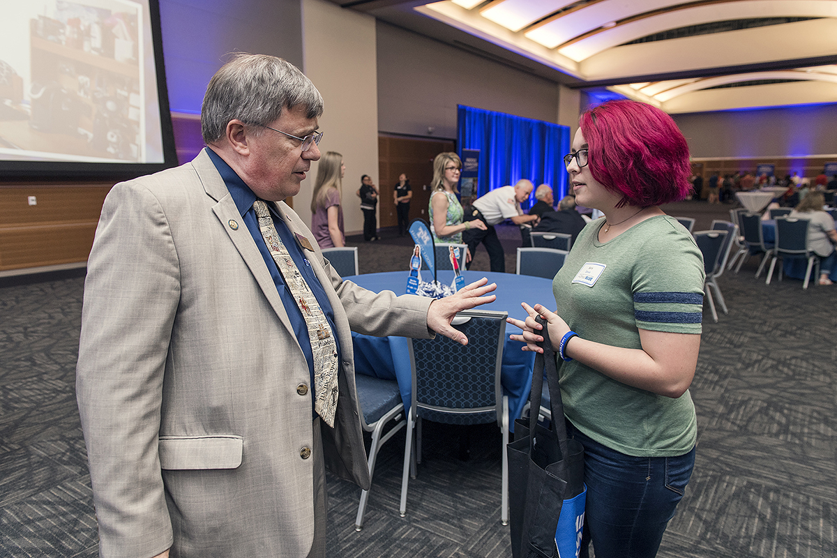 Rousing start propels MTSU's expanded  True Blue Tour recruiting efforts | Honors College,Dean,John Vile, Buchanan Fellowship,Sara Dove,Coffee County, Central High,Manchester,MTSU,Andy Heidt