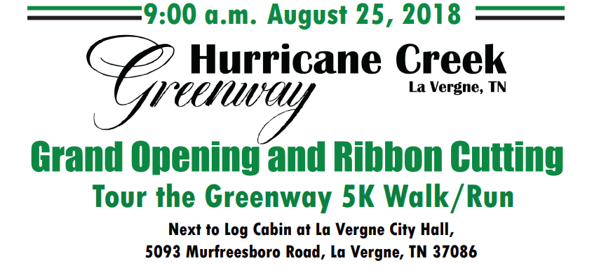 Rutherford County to see Grand Opening of New Greenway Section Saturday