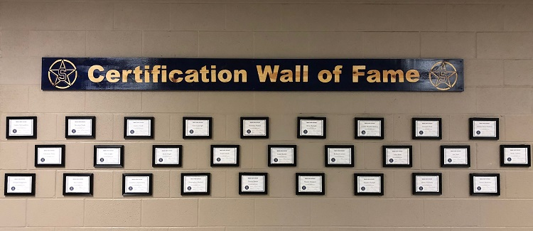 Siegel High School Certification Hall of Fame