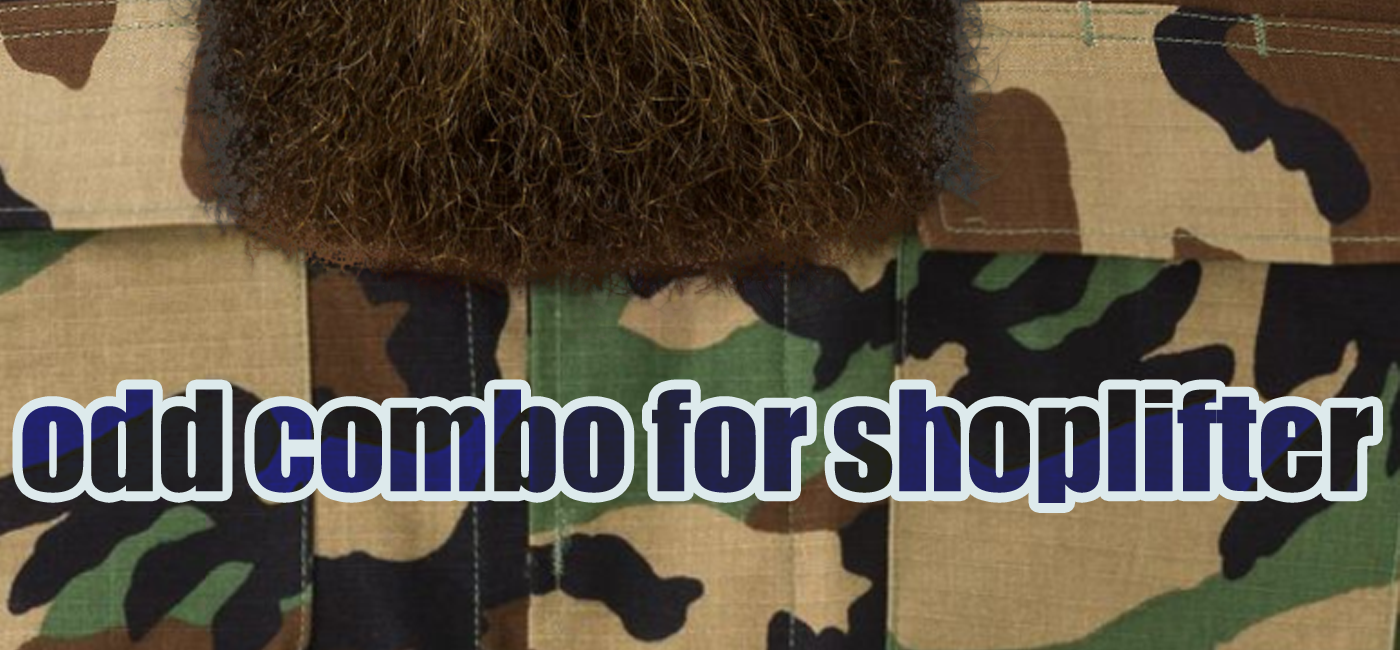 Shoplifter in Murfreesboro: Full Beard and Military Uniform