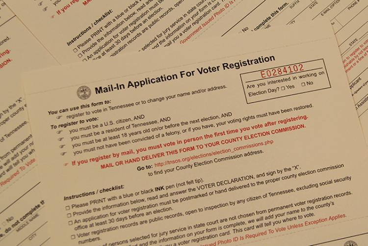 Judge blocks Tennessee's new voter registration law