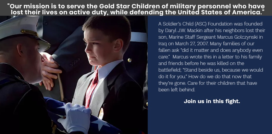 Non-Profit A Soldiers Child Celebrating 10 Years