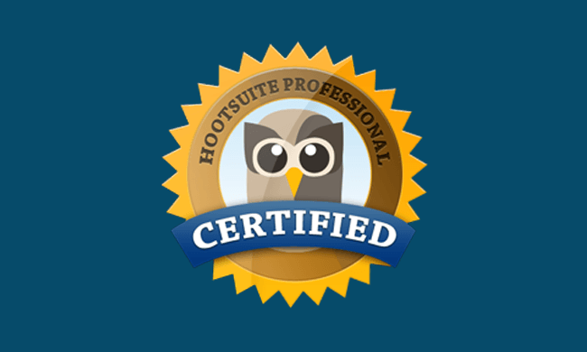 Lauralee Richardson earned her Social Marketing Certification from Hootsuite.