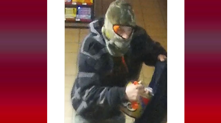 A subject seen on a surveillance photo is accused of breaking into the C&E Market on Nov. 13th in Christiana.