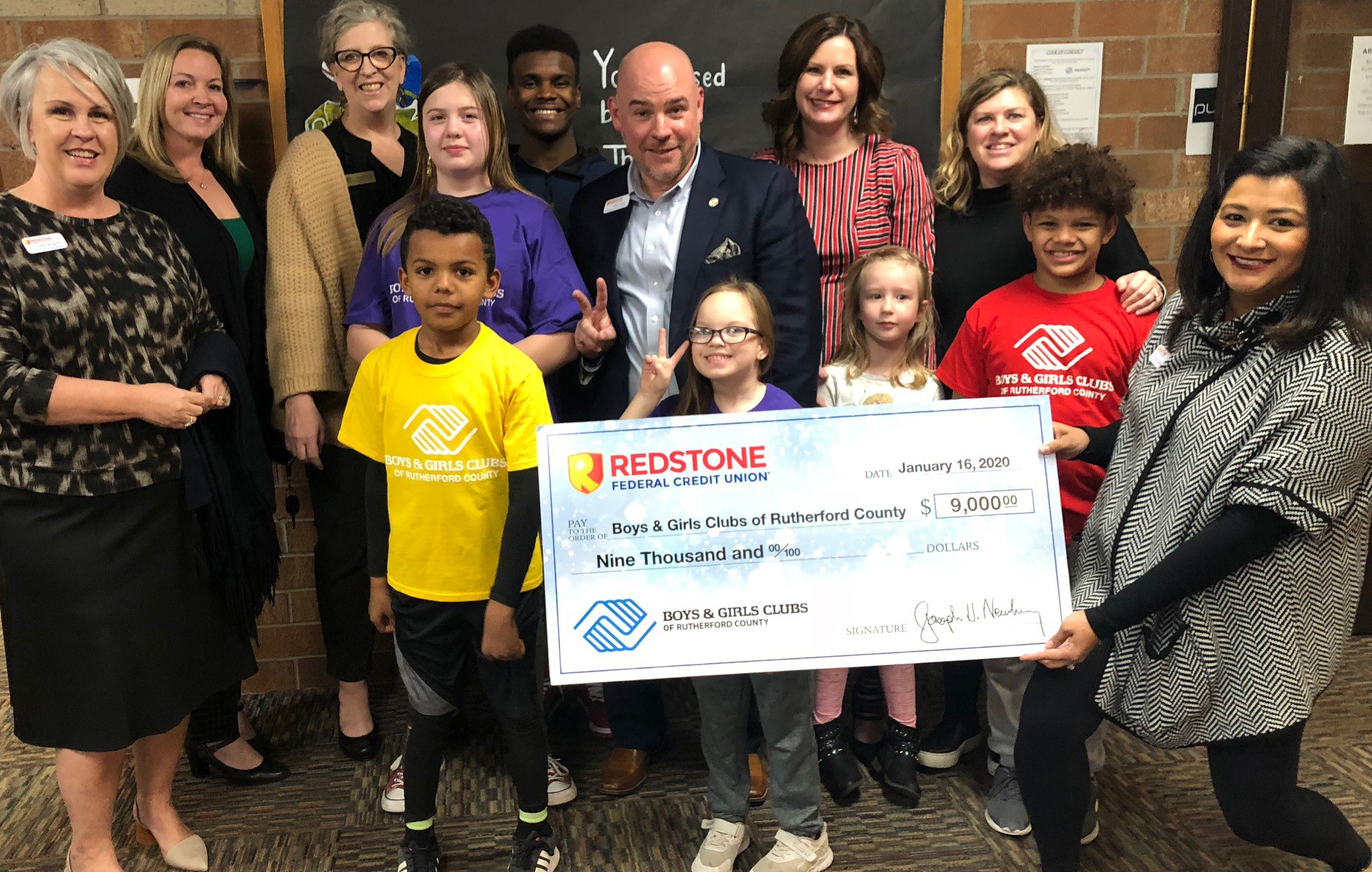 Christmas celebrations continued at Redstone Federal Credit Union® last week when the organization presented checks for $9,000 to two children's charities as part of its Letters to Santa campaign.