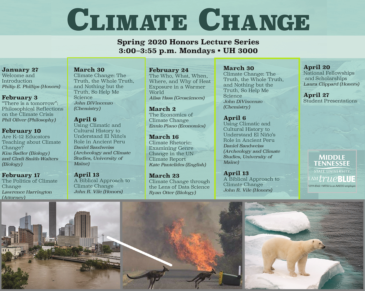 Public Lectures on Global Warming at MTSU