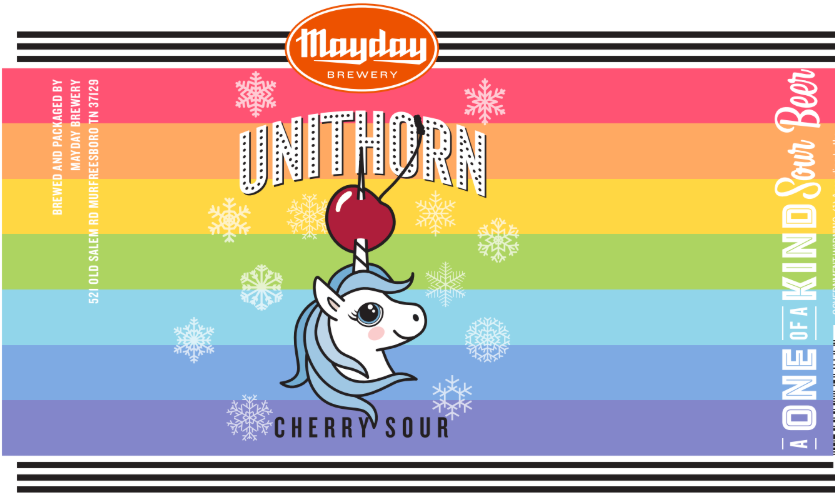 Mayday Brewery is releasing three new seasonal beers this month. The Epsbean Didn't Stout Himself (a vanilla stout), the second edition of the Unithorn Sour Series, the Unithorn Cherry Sour...
