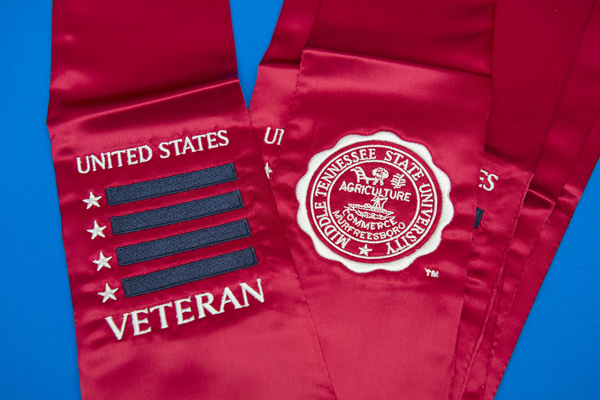 For the first time, MTSU's Charlie and Hazel Daniels Veterans and Military Family Center will hold a virtual Graduating Veterans Stole Ceremony because of the coronavirus pandemic.
