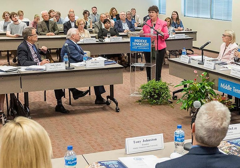 Middle Tennessee State University Board of Trustees to hold Teleconference Meeting